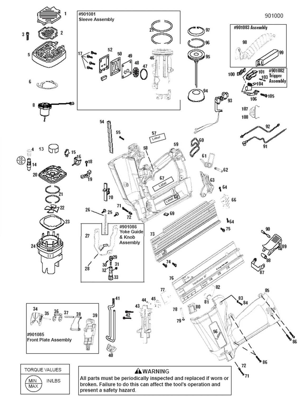 Großartig Paslode Framing Nagler Teile Diagramm Galerie ...