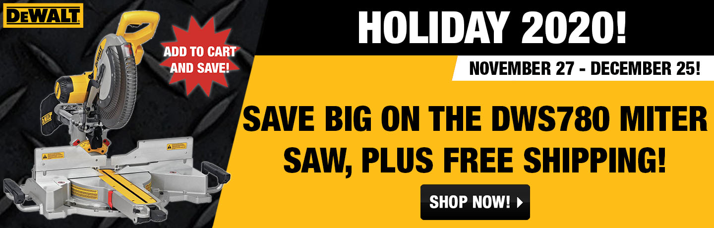 DeWalt DWS780 deals!