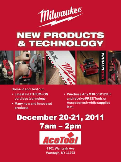 Milwaukee Tool Deals december 2011