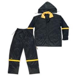 2b132309a6cb8 Custom Leather Craft R1034X Black Nylon 3 Piece Suit - 4X Large