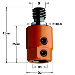 Left-Hand Rotation CMT 303.000.02 Boring Bit Adaptor M10 type of Shank 10mm Bit Diameter