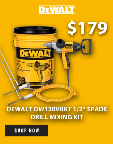Geat a great deal on the DeWalt DW130VBKT Spade Drill Mixing Kit at Ace Tool!