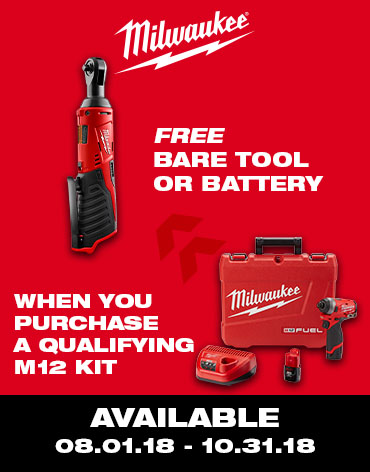 Buy a Milwaukee M12 Kit, get a free tool/battery!!