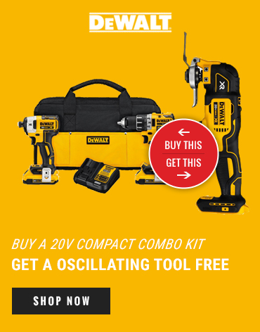 Buy a 20v Compact Combo Kit. Get an oscillating tool free
