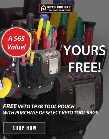 Get a FREE TP3B Tool Pouch with purchase of select Veto Pro Pacs